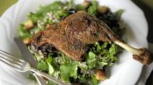 Duck Confit With Bitter Lettuce Salad (Fred Lum/The Globe and Mail))