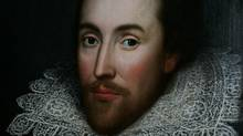 A detail of a portrait of William Shakespeare, presented by the Shakespeare Birthplace trust. (LEFTERIS PITARAKIS/AP/LEFTERIS PITARAKIS/AP)