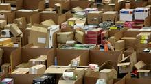 Staff at the Amazon Swansea (UK) fulfilment centre process orders as they prepare for what is expected to be their busiest Christmas on record. (Matt Cardy/Matt Cardy/Getty Images)
