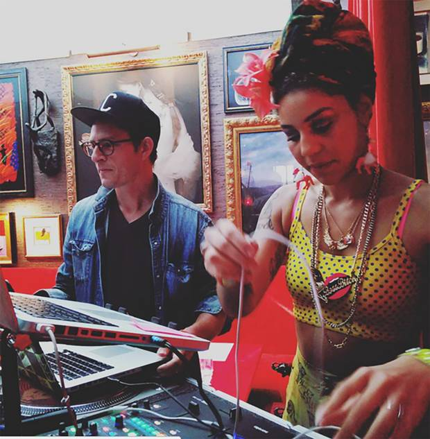 Hotel Vagabond's Artist in Residence Charlie B Wilder aka DJ Captain Planet wows guests along with singer Joy Villa.