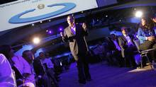 Salesforce CEO Marc Benioff walks among attendees as he delivers his keynote address at the Dreamforce event in San Francisco, California August 31, 2011. (ROBERT GALBRAITH/Robert Galbraith/Reuters)