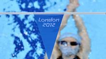 A South Korean swimmer trains at the Aquatics Centre at the Olympic Park in Stratford, the location of the London 2012 Olympic Games, in east London July 20, 2012. (TOBY MELVILLE/REUTERS)