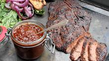Muskoka flank steak with Waverman home barbecue sauce (Tim Fraser for The Globe and Mail)