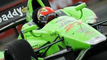 Canada's James Hinchcliffe of Andretti Autosport drives during the Indy Car Series practice at the Edmonton Indy in Edmonton July 21, 2012. (DAN RIEDLHUBER/REUTERS)