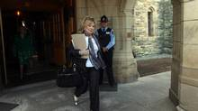 Pamela Wallin, whose expenses are the subject of a continuing audit, leaves the Senate on Tuesday. (Dave Chan FOR THE GLOBE AND MAIL)