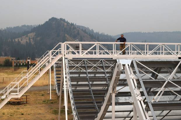The Globe's Ivan Semeniuk looks out at the CHIME array at the Dominion Radio Astrophysical Observatory in B.C.