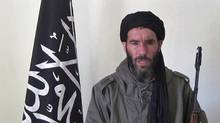 Former Al-Qaeda in the Islamic Maghreb (AQIM) leader Mokhtar Belmokhtar appears in a still from a 2012 video. (YouTube video)