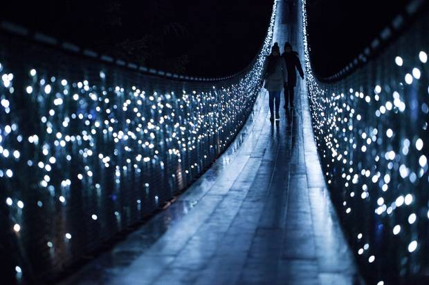 The annual holiday Canyon Lights at North Vancouver's Capilano Suspension Bridge Park.