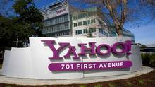 A Yahoo! signs sits out front of their headquarters in Sunnyvale, California in this February 1, 2008 file photo. Yahoo Inc said it was laying off 2,000 employees, signaling a broad shakeup of the company. (Kimberly White/Reuters)