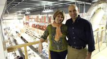 Business is slow in the summer for Steeped Tea, owned by Hatem and Tonia Jahshan. The company sells loose leaf tea and accessories using a direct sales model, through consultants across Canada and the United States who hold Tupperware-style home tea parties. (Adriano Valentini For The Globe and Mail)