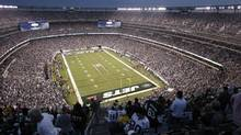 The MetLife Stadium in East Rutherford, N.J., is set to host the Super Bowl on Feb. 2, 2014. (FRANK FRANKLIN II/AP)