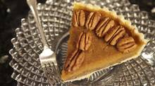 A slice of pecan pumpkin pie. (Anne-Marie Jackson/Anne-Marie Jackson/The Globe and Mail)