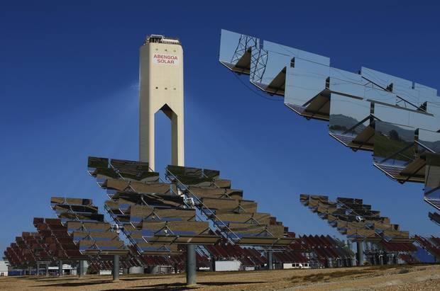 Solar energy facilities in Spain.