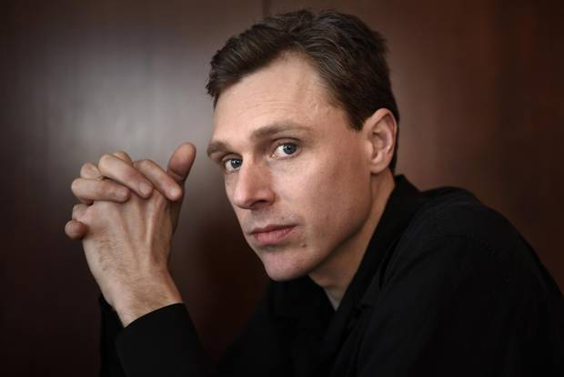 Musician Joel Plaskett sits down to talk to the Globe and Mail on Feb. 27, 2015, during an interview at the Gladstone Hotel in Toronto.
