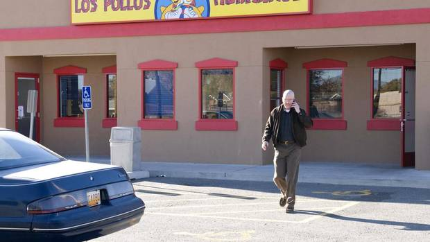 "BREAK BAD: A few nondescript spots around Albuquerque have become famous thanks to AMC's hit television series Breaking Bad. Go online, print out a free map to the filming locations and don't forget your camera. You won't be able to resist taking a ""selfie"" in front of Los Pollos Hermanos or the Dog House Drive In. (Richard Foreman/AP)"