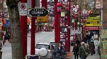 Chinatown on East Pender Street near Columbia Street in Vancouver on January 09, 2013. (Deborah Baic/The Globe and Mail)