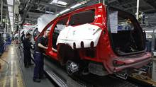 The main Volvo automobile manufacturing factory in Gothenburg. The Swedish economy grew at a 7.3-per-cent annual clip in the fourth quarter. (BOB STRONG/Bob Strong/Reuters)
