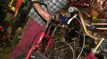 Bike repair shop in Toronto's Kensington Market in 2003. (Louie Palu/The Globe and Mail)