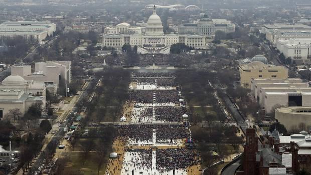 Jan. 20, 2017: The National Mall at Mr. Trump's inauguration.
