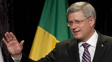Prime Minister Stephen Harper waves following his speech to members of the business community in Sao Paulo, Brazil, on Tuesday, August 9, 2011. THE CANADIAN PRESS/Adrian Wyld (THE CANADIAN PRESS/Adrian Wyld/THE CANADIAN PRESS/Adrian Wyld)