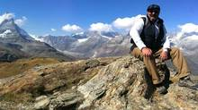 Chef Massimo Capra in the Swiss Alps near Zermatt.