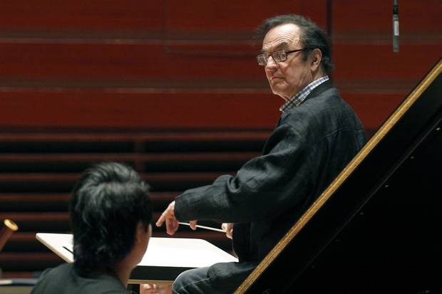 Oct. 19, 2011: Conductor Charles Dutoit, right, performs with the Philadelphia Orchestra.