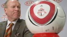 A soccer ball with the TFC logo is seen in this file photo. (Chris Young/THE CANADIAN PRESS)