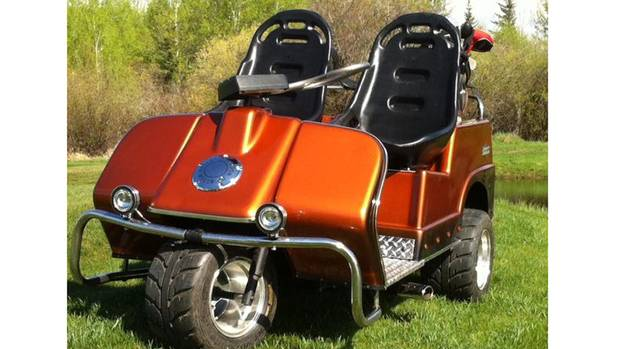 souped up yamaha golf cart