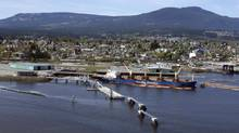 The Western Forest Products mill in Nanaimo, B.C., on April 30, 2014. (John Lehmann/The Globe and Mail)