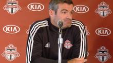 Toronto FC manager Ryan Nelsen meets the media at the club's end-of-season wrap session in Toronto, Monday, Oct.28, 2013. (NEIL DAVIDSON/THE CANADIAN PRESS)