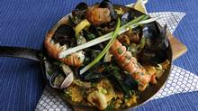 Lucy Waverman's seafood paella (Deborah Baic/The Globe and Mail/Deborah Baic/The Globe and Mail)