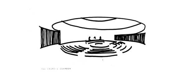 Viljo Revell's design for the City Hall council chamber.