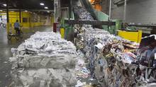 Recycled bales being reprocessed are shown in this file photo. (Christinne Muschi/Christinne Muschi for The Globe and Mail)