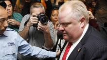 Toronto Mayor Rob Ford leaves his office at the City Hall, , Toronto Nov 18, 2013. (Fernando Morales/The Globe and Mail)