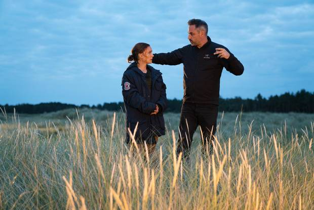 Alex Garland directs Natalie Portman on set. With Annihilation, Garland offers some of the weirdest and most audacious imagery ever seen in a big-budget film.