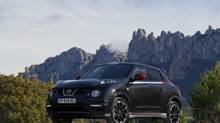 2013 Juke Nismo: Two configurations are available: Front-wheel drive with a 6-speed manual transmission, and all-wheel drive with CVT. (Nissan)
