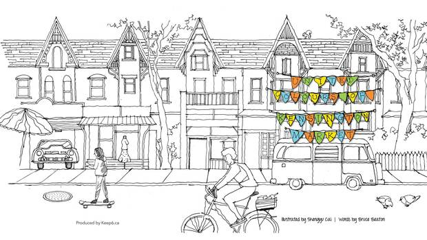 Restore Kensington Market's panache in the pages of a colouring book ($20).