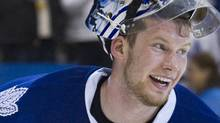 Toronto Maple Leafs goalie James Reimer. REUTERS/Fred Thornhill (FRED THORNHILL)