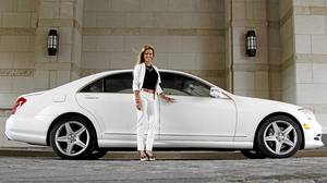 Dee Dee Taylor Eustace with her 2011 Mercedes-Benz S550 sedan