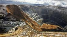 Rio Tinto's Kennecott Bingham Canyon copper mine after a landslide Thursday, April 11, 2013 in Bingham Canyon, Utah. (Ravell Call/AP)