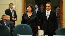 Mr. Justice Michael Moldaver and Madame Justice Andromache Karakatsanis appear at a hearing at Parliament Hill in Ottawa on Oct. 19, 2011. (Sean Kilpatrick/THE CANADIAN PRESS/Sean Kilpatrick/THE CANADIAN PRESS)