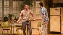 Stuart Hughes, right, and Mike Ross in Soulpepper's True West. (Cylla von Tiedemann)