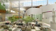 Rendering drawings for Woman's college Hospital designed by Susan Black, a partner with Perkins Eastman Black Architects in joint venture with IBI Group