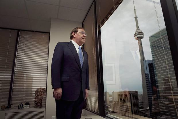 Gerald Soloway, former CEO of Home Capital is seen in his Toronto office in 2010.