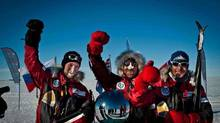 Team Framdrift from the South Pole Race, from left: Mathias Seim, Havard Svidal and Erlend Gray. (Urban Brew Studios)