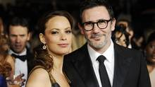 Director Michel Hazanavicius (R) and wife actress Berenice Bejo attend the 64th annual Directors Guild of America Awards in Los Angeles January 28, 2012. (Reuters)