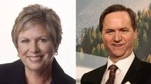 Dawn Black, left, and George Abbott are former B.C. MLAs. (Darryl Dyck/The Canadian Press)