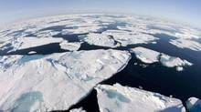 Ice floes float in Baffin Bay above the Arctic circle from the Canadian Coast Guard icebreaker Louis S. St-Laurent. (JONATHAN HAYWARD/THE CANADIAN PRESS)