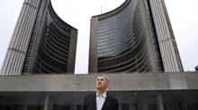 Former city councillor David Soknacki filed his nomination papers on Jan. 6, 2014, to run in Toronto's next mayoral election. (Fernando Morales/The Globe and Mail)
