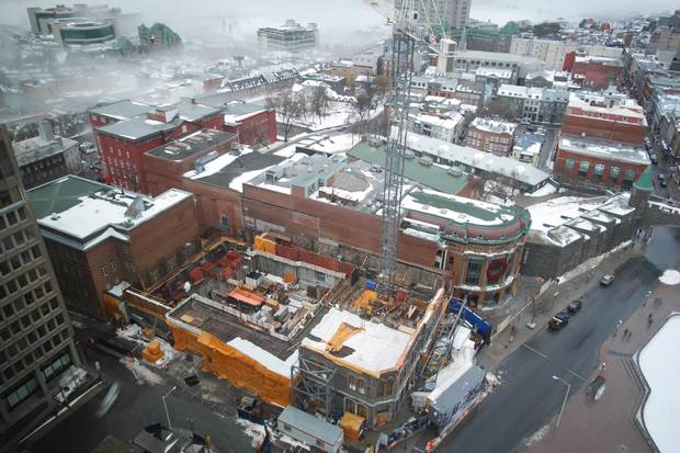 Le Diamant is currently under construction at Quebec City's Place d'Youville.